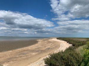 Essex beach at Bradwell on Sea